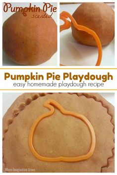 A quick and easy pumpkin pie scented playdough recipe that kids love! Perfect homemade playdough for fall with toddlers and preschoolers! Activities To Do With Toddlers, Fall Preschool Activities, Playdough Activities, Learning Activities, Fresh Pumpkin Recipes, Easy Pumpkin Pie, Thanksgiving Crafts For Kids, Fall Crafts, Holiday Crafts