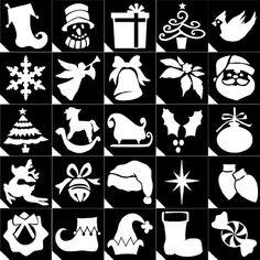25pc. Glitter Tattoo Stencil ~ Christmas Sensationallychic Stencils