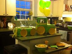 Handmade tractor centerpiece - baby shower Custom made - check out my etsy shop SEWforMyGirls! :-)