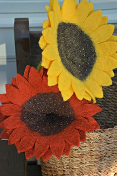 49682c9722d Our Fair Trade Felt Sunflowers let you enjoy the happy vibrancy of  sunflowers all year round · Felt Ornaments PatternsFlower OrnamentsWool ...
