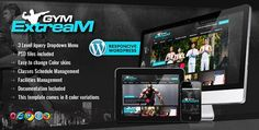 Gym Extream - Gym and Fitness WordPress Theme Free Download
