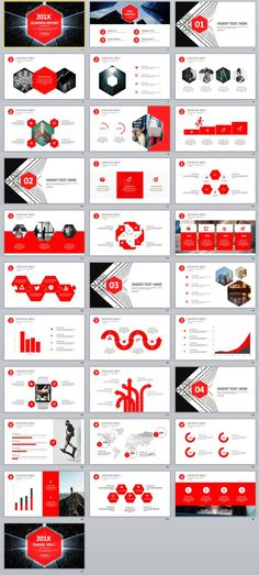 The use of hexagons throughout the template helped to add an element of fun to the simple layout. I'm especially fond of the design for the cover slide of each section - innovative play-around with lines and shapes. Create Powerpoint Template, Professional Powerpoint Templates, Powerpoint Themes, Business Powerpoint Templates, Powerpoint Presentation Templates, Keynote Template, Infographic Powerpoint, Infographics, Report Template