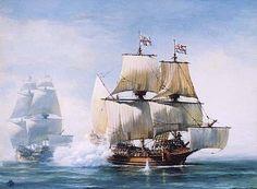 The Golden Hind, Sir Francis Drake's ship Ship Paintings, Seascape Paintings, Sir Francis, Ship Map, Bateau Pirate, Pirate Boats, Old Sailing Ships, Naval History, Tudor History