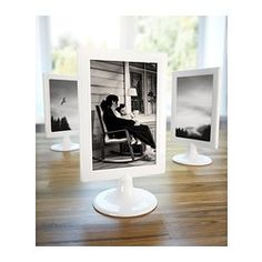 """Table Number Frames...A freaking $0.99 at Ikea! Remarkably sturdy. More of a ivory colored than white.  4""""x6"""" TOLSBY Frame - Double sided windows-  IKEA"""
