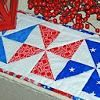Patriotic Pinwheel Runner Tutorial | FaveQuilts.com