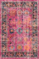 Liven up even the dullest of rooms with this vintage-inspired print and over-dyed rug. This machine made rug is low on pile, easy to clean and made of 100% polyamide to give you better durability even in high-traffic areas.