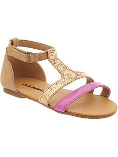 Glittery T-Strap Sandals for Baby | Old Navy