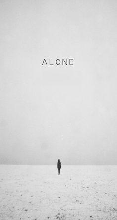 Walking Alone Winter Scene iPhone 6 Plus HD Wallpaper