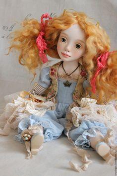 Купить Дидиан - голубой, рыжий, кукла ручной работы, кукла, кукла в подарок, кукла интерьерная