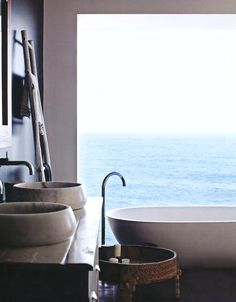 Beautiful bathroom with a view