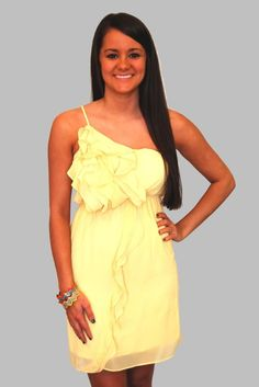 This yellow sun dress is perfect for spring and summer.