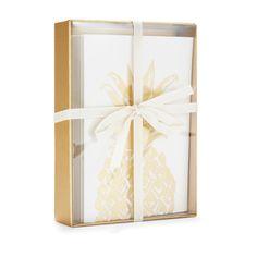 Copper Canvas Pineapple Notelets Set