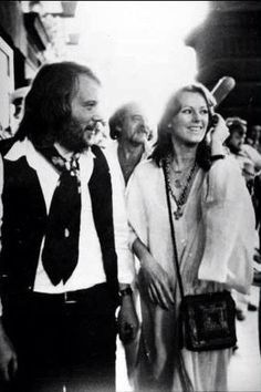 Anni-Frid Lyngstad and Benny Andersson
