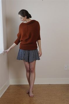 reversible, up-side downable, dolman sweater