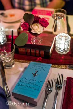 Each guest received a book at this literary themed reception. www.photosbyrb.com