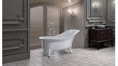 The Drayton takes its form from the original Victorian slipper tub with added modern day opulence, refinement and beautiful rim detailing,