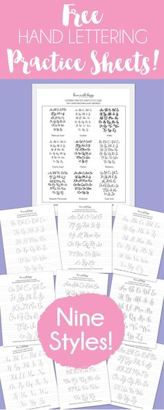 FREE Hand Lettering Facebook Class and Printable Practice Sheets