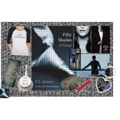 """Take a trip with a book - Fifty Shades of Grey"" by stine1online on Polyvore: Polyvore Contest ""Take a trip with a book"" Fifty Shades of Grey style. #fsog #FiftyShades #zazzle #cowcow #CafePress #seattle"