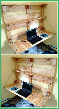 Simple And Easy Pallets Recycling Ideas Pallet Furniture Pallet Wood Projects Easy Pallet Projects How To Build Furniture From Pallets Pallet Crafts For Christmas DI. Pallet Home Decor, Pallet Desk, Pallet Crafts, Diy Pallet Furniture, Wood Furniture, Diy Home Decor, Furniture Ideas, Desk Ideas, Ideas Fáciles