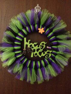 2224 Hocus Pocus Halloween Tulle Wreath by MandJcraftycreations, $30.00