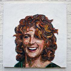 Mosaic Tile Art, Stone Mosaic, Mosaic Portrait, Mosaic Patterns, Art Forms, Glass Art, Face, Portraits, Painting