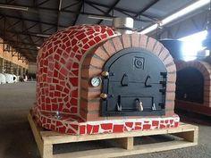 Outdoor Pizza Oven w/ Mosaic Tiles, Cast Iron Door, Insulation