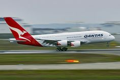 Airbus A380 - Qantas, I want to fly this bad boy when I go to Sydney, upper class of course!