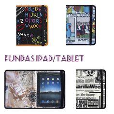 Fundas para Ipad, tablet o Ebook de Arethaju. De hule estampado o piel. Elige estampado o piel a tu gusto. Te la hacemos a medida. www.arethaju.com