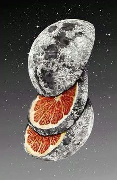 The moon ain't made of cheese.  Its an orange, duh.