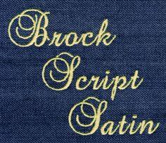 420 Brock Script Satin Font