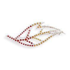 Crystal Leaf Fashion Pin