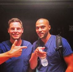 Justin Chambers and Jesse Williams. Where are doctors that look this good?!