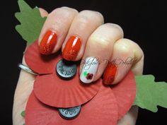 Pinkglow's Pretty Polish - Remembrance Day nails