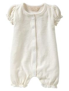Organic ruffle terry one-piece | Gap