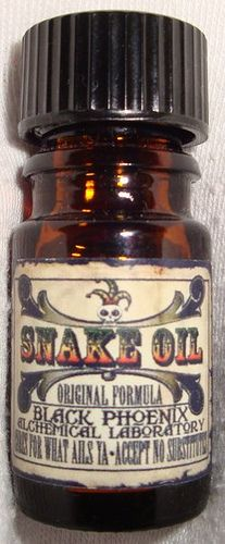 Snake Oil from Black Phoenix Alchemy Lab. A gorgeous blend of Indonesian oils and sugared Vanilla.