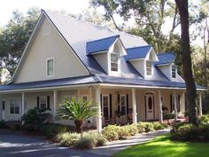 30 Blue Metal Roof Ideas Metal Roof House Exterior Blue Roof