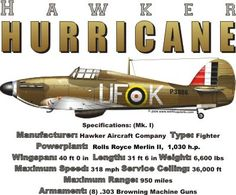WARBIRDSHIRTS.COM presents WWII T-Shirts, Polos, and Caps, Fighters, Bombers, Recon, Attack, World War Two. The Hurricane