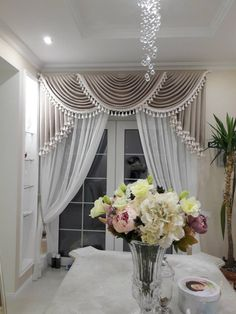 Living Room Decor Curtains, Living Room Decor On A Budget, Home Curtains, Curtains And Draperies, Living Room Designs, Luxury Curtains, Elegant Curtains, Beautiful Curtains, Curtain Designs For Bedroom