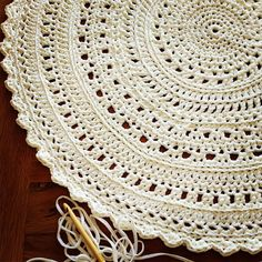 Purity + Complexity \'Snowflake\' Crochet Floor Rug #bunyetskahandmade #crochetfloorrug #crochetrug #tshirtyarn #jerseybegood #woolandthegang #etsyau #shareyourknits #white #shareyourcrochet #crochethook #onthehook #chunkyyarn #handmadeisbetter #craftastherapy #handmadeinaustralia #makersgottamake #crochetconcupiscence #madeunique #yarnstagram #crochetersofinstagram #makersvillage
