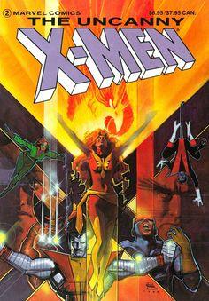 Bill Sienkiewicz 1984: The Uncanny X-Men: The Dark Phoenix Saga Trade Paperback cover. One of my earliest X-Men reads and memories.