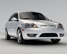 Coda silver sedan model