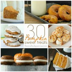 The Crafted Sparrow: 30 Pumpkin Sweet Treats