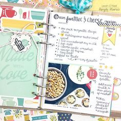 create a special recipe planner our new carpe diem recipe  recipe planner from creative team member lean o neil using the carpe diem recipe insert
