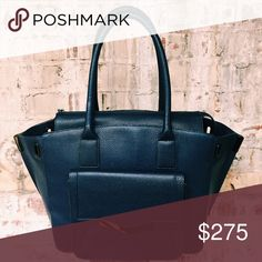 Time's Arrow authentic dark blue leather purse Beautiful Time's Arrow Jo Tote, Medium. Perfect condition! Time's Arrow Bags Totes