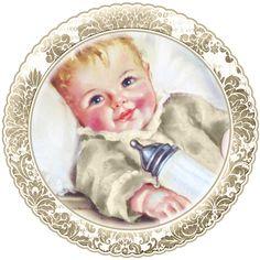 Mignons bébés: cartes imprimables gratuites, hauts de forme ou des étiquettes.