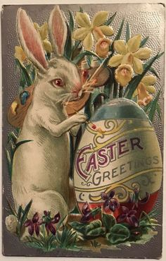 Easter Postcards + other Vintage Easter Goodies Vintage Easter, Vintage Holiday, Vintage Cards, Vintage Postcards, Vintage Clip, Vintage Ephemera, Vintage Images, Beatrix Potter, Old Illustrations