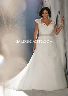 plus size winter wedding dresses with sleeves | ... neck Cap Sleeves Court Train Applique Bead Tulle Wedding Dresses 2014