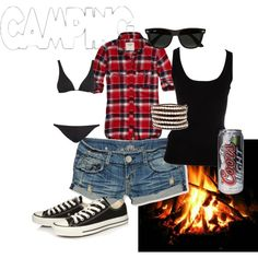 Maybe change shorts for jeans . And coke vintage bottle insteadSummer(ish) outfit. Maybe change shorts for jeans . And coke vintage bottle instead Camping Ideas, Camping Diy, Camping Style, Easter Camping, Camping Packing, Camping Games, Camping Recipes, Camping Essentials, Family Camping