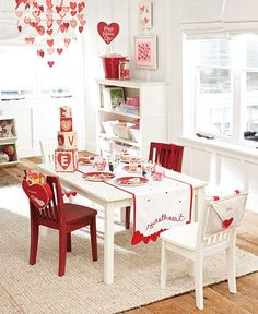 LOVE this @Pottery Barn Kids valentine setup!