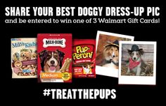 Big Heart Pet Brands #TreatThePups Gift Card Sweepstakes. Enter to win $500, $100 and or $50 Walmart Gift Card!  #Ad